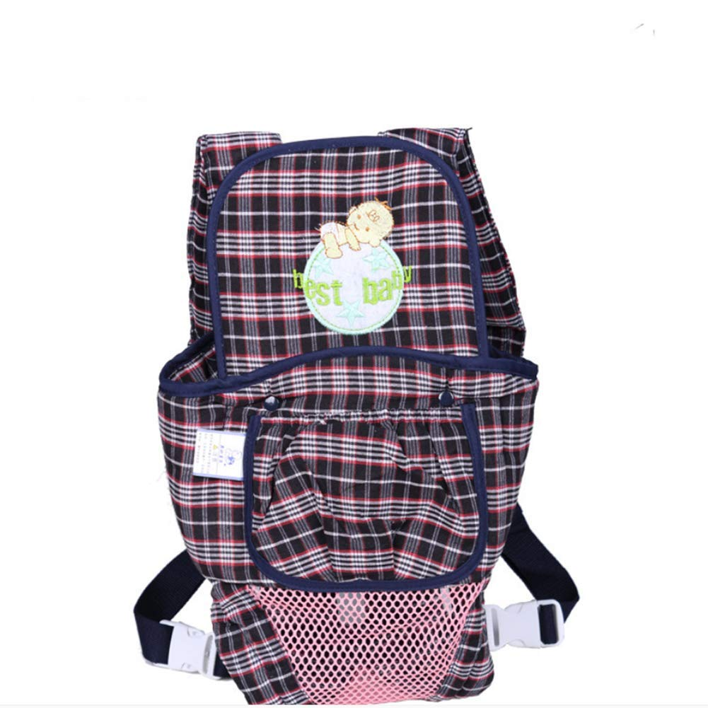 ZLMI Baby-Riemen Atmungsaktive Modische Plaid Doppel Schultern Baby-Riemen Baby-Riemen