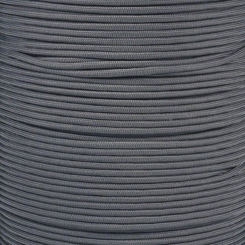 PARACORD PLANET 550 Paracord - Solid Colors - for Indoor and Outdoor Applications (10 Feet, Charcoal Gray)