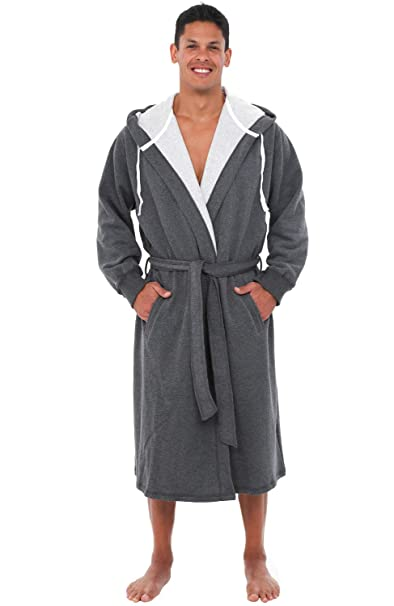 luxury fashion big clearance sale new & pre-owned designer Alexander Del Rossa Mens Warm Sweatshirt Cotton Robe with Hood