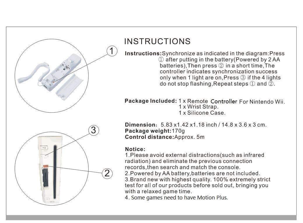 Amazon.com: Prodico Wii Remote and Nunchuck Controller with Silicone Case  and Strap for Nintendo Wii Wii U Wii mini (white): Computers & Accessories