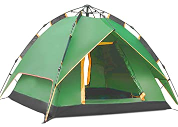 Instant Automatic Pop up Backpacking C&ing Hiking 4 Man Tent  sc 1 st  Amazon.com : 4 man tent pop up - memphite.com
