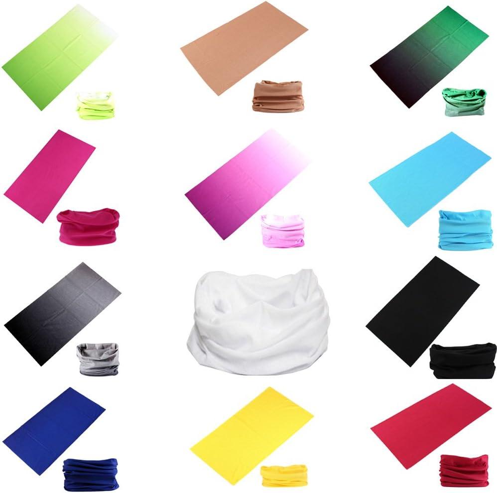 DEMIL 6PCS//8PCS//12PCS Seamless Headband camo Bandanas Headwear for Men/&Women Neck Warmer Scarf 16-in-1 Multifunctional for Neck Gaiter