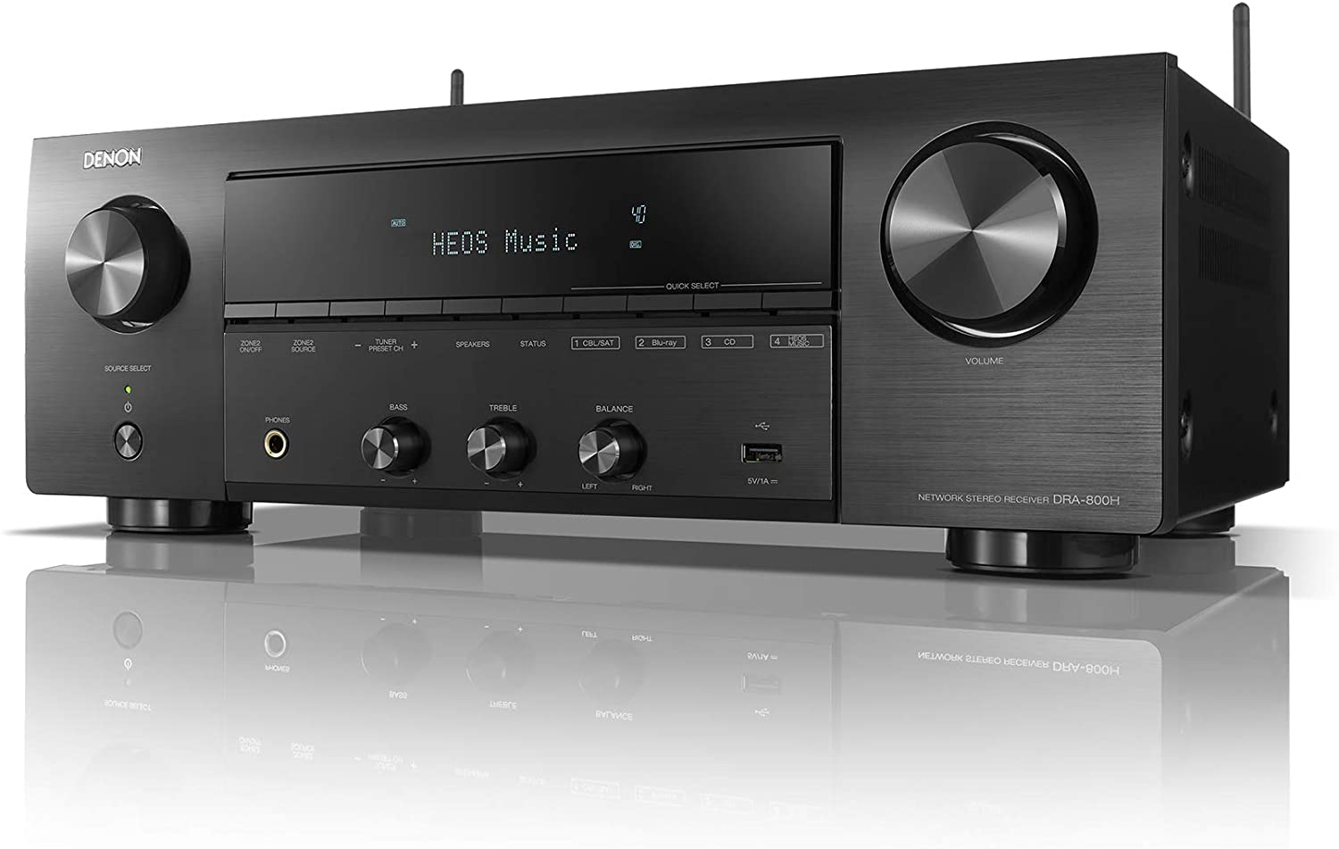 Denon DRA-800H 2-Channel Stereo Network Receiver for Home Theater | Hi-Fi Amplification | Connects to All Audio Sources | Latest HDCP 2.3 Processing with ARC Support | Compatible with Amazon Alexa