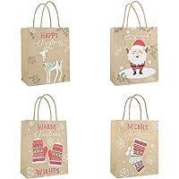 Toyvian Favores de la Navidad Bolsa de Papel