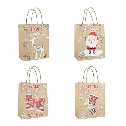Toyvian Bolsas de Navidad, Bolsas de Papel Kraft para Fiesta ...