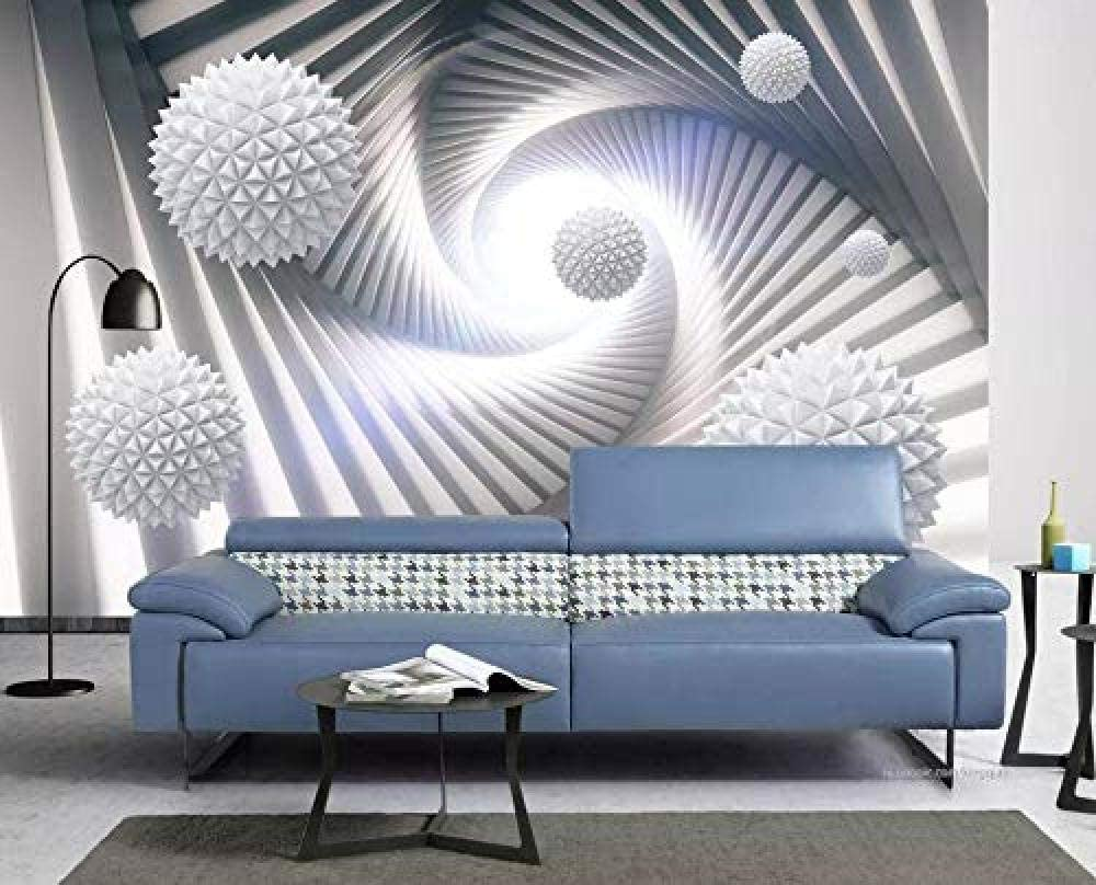 Wall Mural 3d Effect Wallpaper Abstract Space Polyhedral Ball Wallpaper 3d Wallpapers Wall Decor Murals Living Room Amazon Co Uk Diy Tools