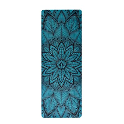 Tapis de yoga, impression de caoutchouc naturel Absorption de la sueur Mouvement antidérapant Tapis de fitness Widen Thicken Tapis de yoga ( Couleur : #6 )