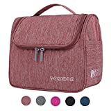 DOKEHOM DKA3104WR Hanging Toiletry Organizer Travel Cosmetic Bag (5 Colors), Water Resistant with Mesh Pockets (Wine Red, L)