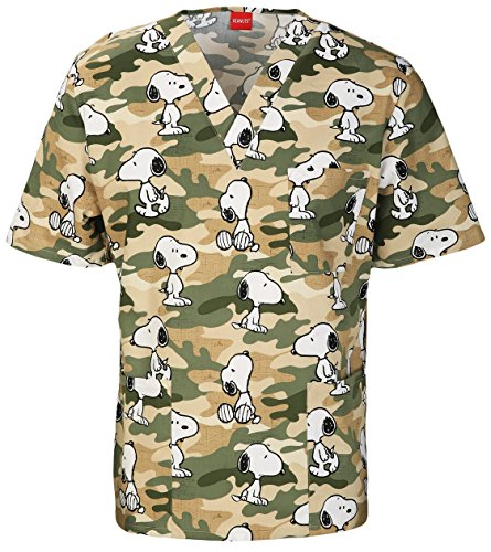 Tooniforms Unisex V-Neck Tunic Scrub Top_Camo Hound_XXXXX-Large,6876C - Tooniform V-neck Tunic