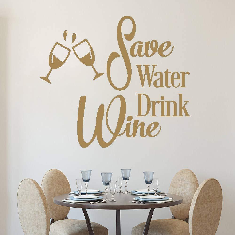 Ahorrar agua beber vino calcomanía de pared cocina divertida ...