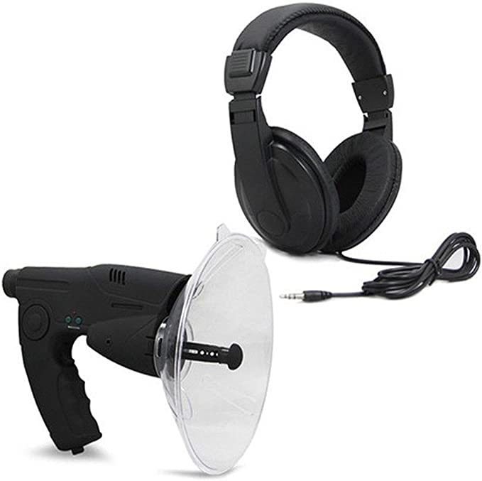Explorer Parabolic microphone Bionic ear Long range listening device up to 8x Monocular Telescope Headphones Included For Scientist Nature