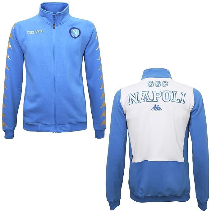 50a71b2a6650 Felpa - Zoder Euro Napoli - Azure-White - XL  Amazon.it  Abbigliamento