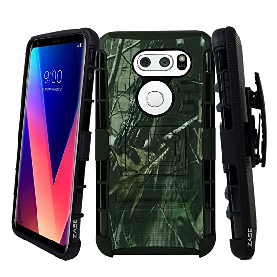 best sneakers 7e3ed 61c8f LG V30 Case, LG V30+ Plus (T-Mobile Sprint Verizon AT&T) Holster Case  [Heavy Duty] Shell Rugged Protective Defender Armor Swivel Belt Clip  [Kickstand] ...