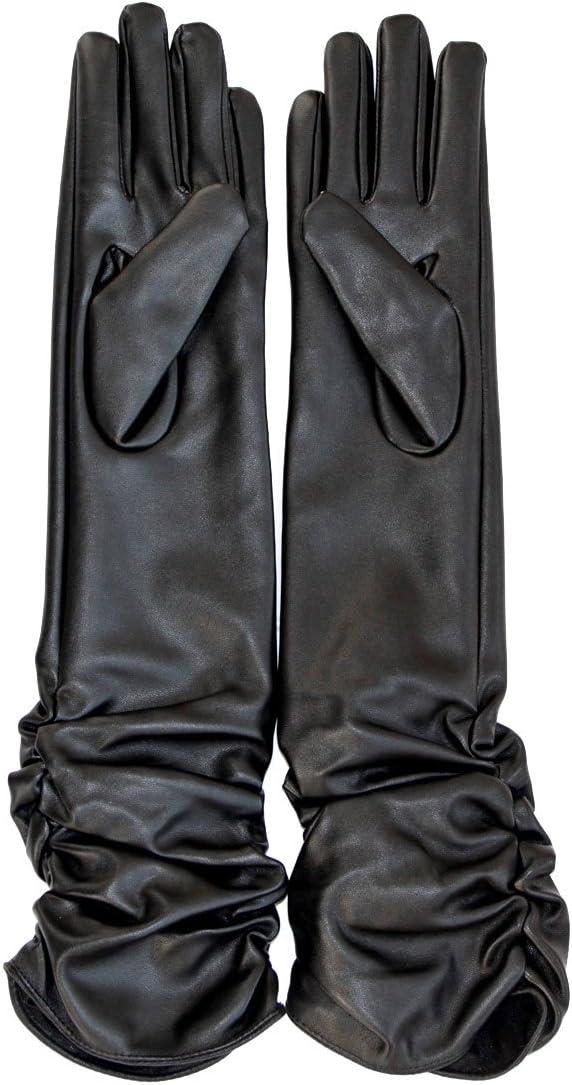 ECOSCO Ladies Opera Long Genuine Soft Nappa Leather Gloves Hand Warmer