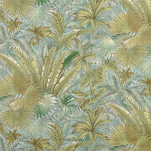 Blue Outdoor Tropical Print Bahamian Breeze Surf Waverly (Blue Tropical Breeze Fabric)
