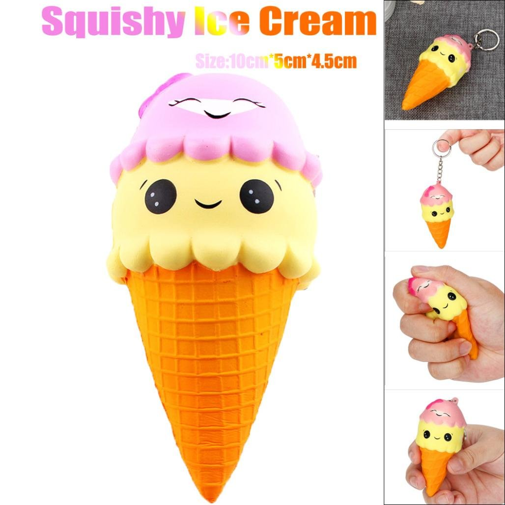 CSSD Squeeze Squishy Ice Cream/Emulation Doll/Knapsack Bear/Cartoon Cat/Lovely Sheep Slow Rising Scented Stress Reliever Toy Gifts (A)