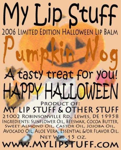 My Lip Stuff-PUMPKIN NOG (Pumpkin Eggnog flavor) LIMITED EDITION HALLOWEEN LIP BALM]()