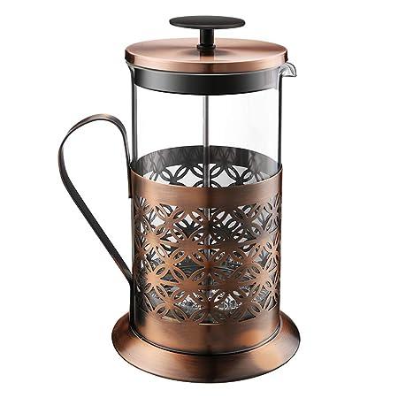 Máquina de café de prensa francesa tradicional, cafetera de ...