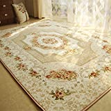 MeMoreCool European Style Roses Carpet Living Room Area Rugs Sofa Side Carpet Baby Crawling Mat Large Carpet for Home Living Room/Bedroom/Floor/Kitchen + Free Shipping For Sale