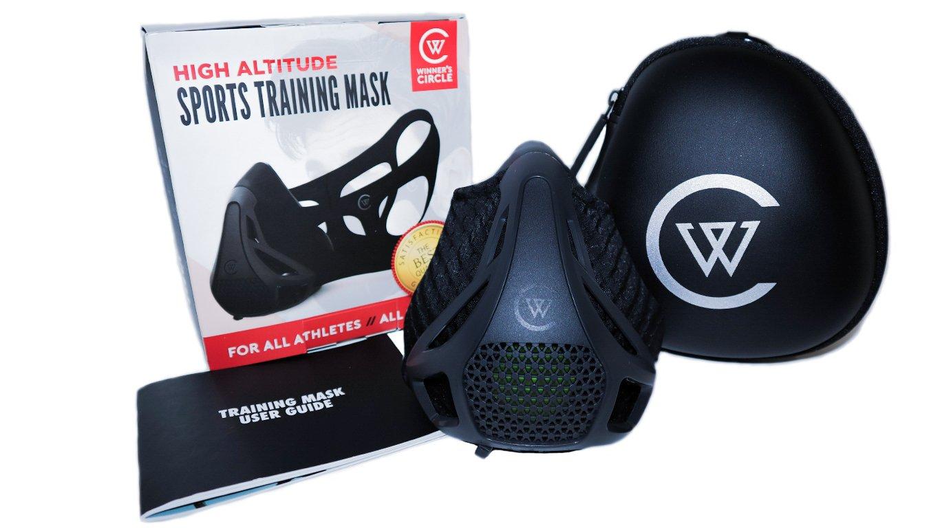 フィットネストレーニングマスク高地シミュレーション、Cardioマスクスポーツマスク| Perfectワークアウトの実行、バイキング、ジョギング、Cardio、スポーツ、リフティング、コンディショニング| W/呼吸のパフォーマンス向上 B07BFQ88TB