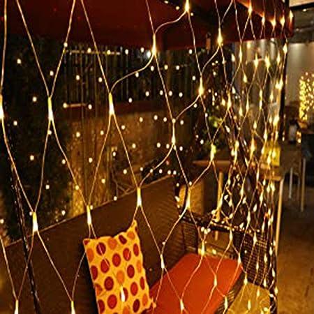 MIAOGO Hada Luz Net, Light Red Festival de Navidad del árbol del jardín LED de Navidad