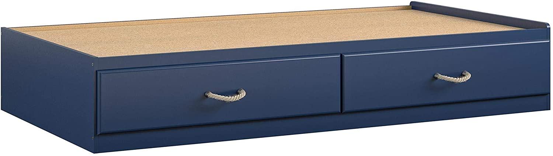 Blue Platform, Ameriwood Home Little Seeds 9060103COM Sierra Ridge Mesa Twin Bed with Storage