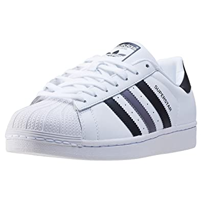 adidas superstar white grey stripes