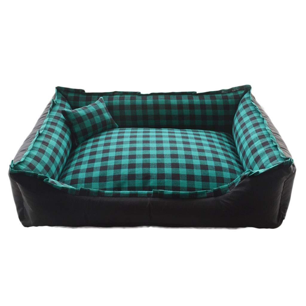 F 60×45cm F 60×45cm A++ Square Plaid Pet Nest, Household Medium Large Cat Dog Bed, Outdoor Oxford Cloth Anti-Slip Pet Mat (color   F, Size   60×45cm)