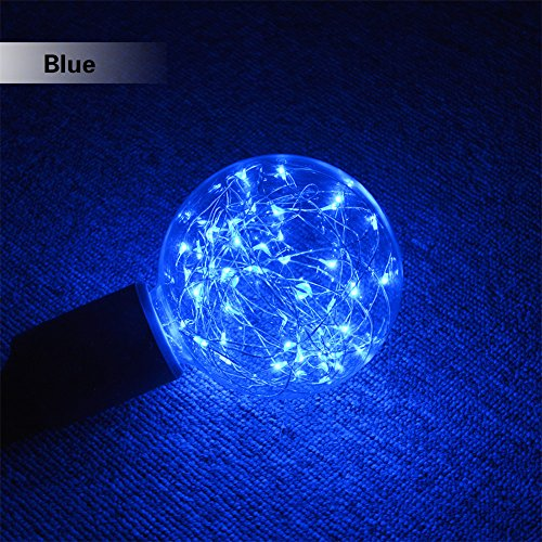 Retro Edison LED Light Bulb, Led Fairy String Lamp, AIMENGTE G95 E27 LED Incandescent Lamp Filament Edison Bulb Night Light for Indoor Christmas Holiday Halloween Hotel Bar Cafes Home. (Blue)