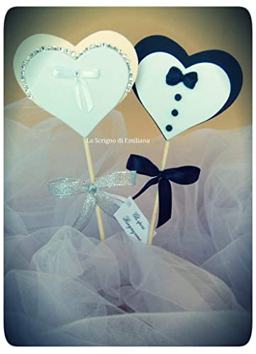 Segnaposto Matrimonio Sposi.Segnaposto Matrimonio Anniversario Sposo Sposa Amazon It Handmade