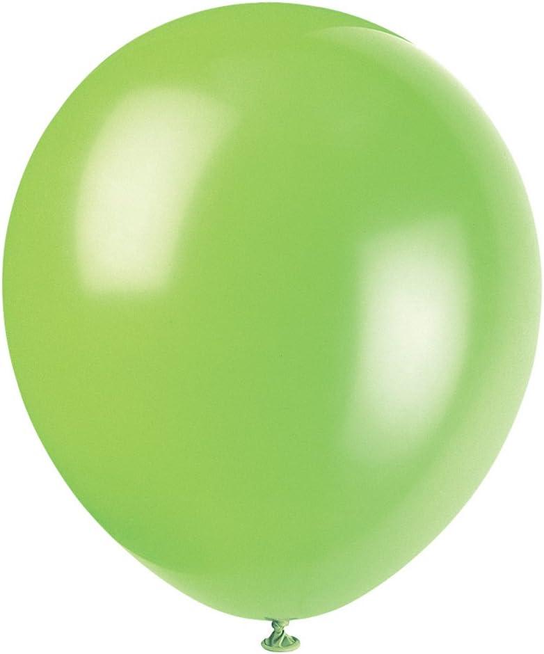 "Bright Lime Green Qualatex 5/"" Latex Balloons x 10"