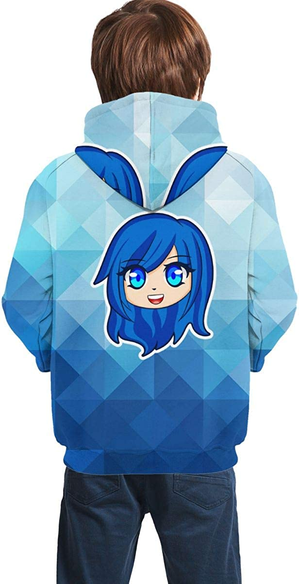 OSCAR CURTIS Unisex Kids Hoodies Sweaters Its-Funneh 3D Printed Pullover Clothes with Pocket for Teens
