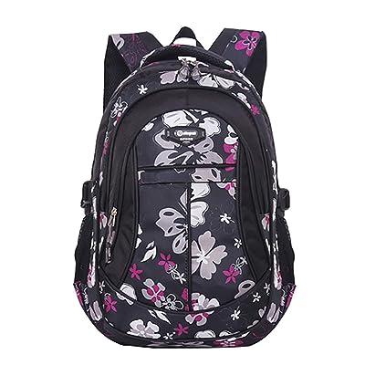 JiaYou Girl Flower Printed Primary Junior High University School Bag Bookbag Backpack | Kids' Backpacks