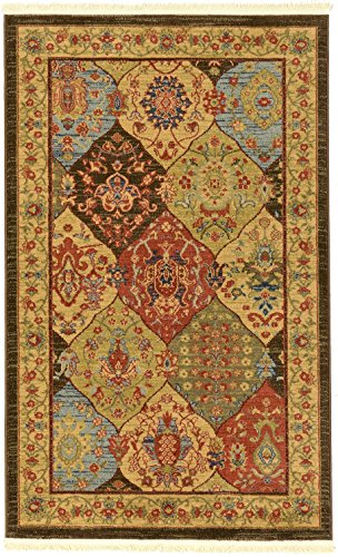 (Heritage Collection Persian Traditional Area Rug Blue, Multi - 3' 3 x 5' 3 FT High Class Living Dinning Room & Bedroom Rugs, Oriental Floor and)