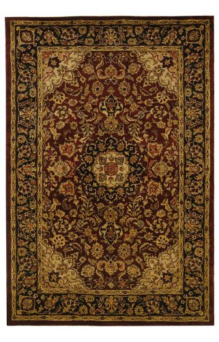 Safavieh Classic Collection CL362A Handmade Traditional Oriental Burgundy  And Navy Wool Area Rug (2u0027