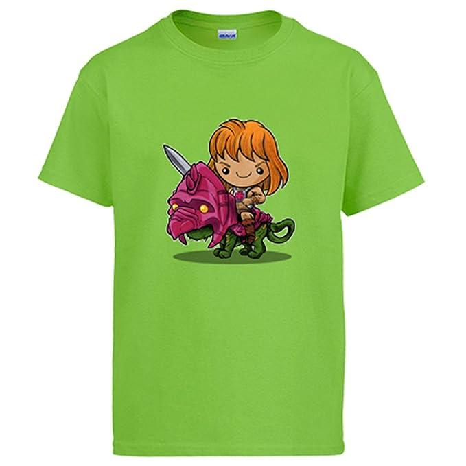 Camiseta Chibi Kawaii He-Man parodia de Masters del Universo - Pistacho, 12-