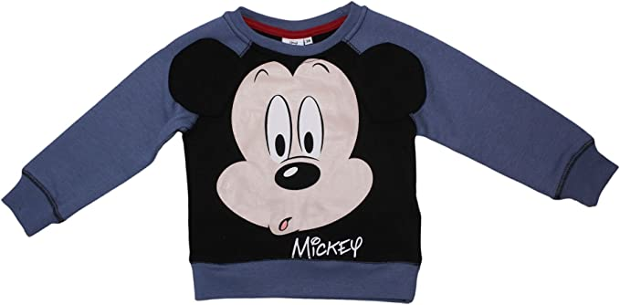 a1b56821 Disney Mickey Mouse Boys Sweatshirt Warm Fleece Jumper Jacket 2-8 Years -  New 2017/18: Amazon.co.uk: Clothing