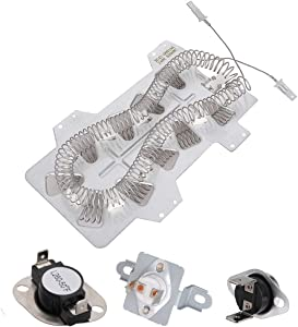 Dryer Heating Element for Samsung DC47-00019A & DC47-00018A DC96-00887A DC47-00016A Thermal Fuse Kit fits DV48H7400EW/A2 DV40J3000EW/A2 DV45H7000EW/A2 DV52J8700EP/A2 DV448AEP DV419AEW DV50F9A6EVW/A2