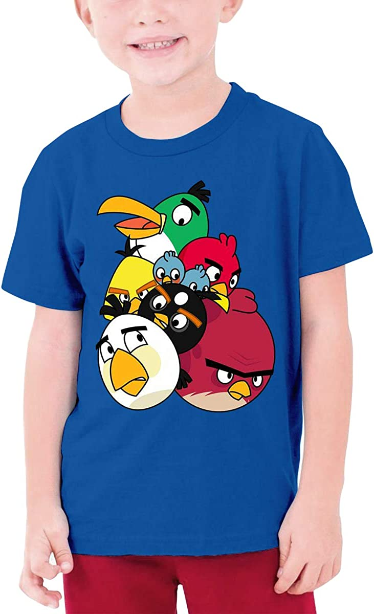 RuiPeng Customized Angry Birds Cluster Funny Tshirts Short Sleeve for Teenagers Black