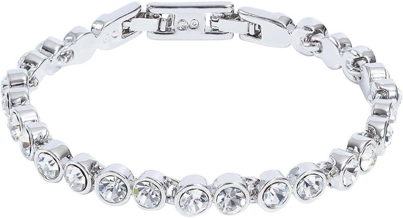 Stella de bijou bracelet Bracelet Tennis Blanc Plaqué Or/1000 avec ...
