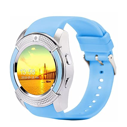 ShopAIS Smart V8 Bluetooth Smartwatch With Sim & Tf Card Support With Apps  Like Facebook And Whats app Touch Screen Multi language Android/Ios Mobile