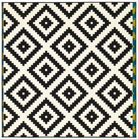 ikea teppich schwarz weiß punkte