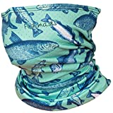 Fishmasks Single Layer Neck Gaiter - Protection From Sun, Surf, Wind And Moisture, For Men And Women - Foam Fish Pattern