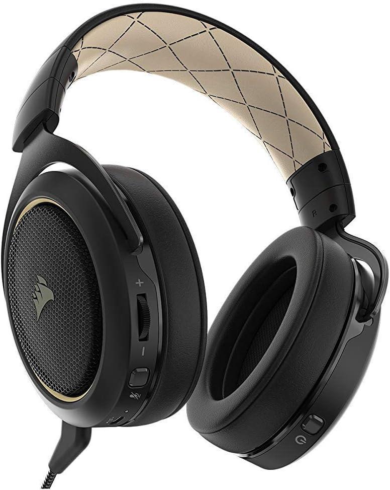 Corsair HS70 Wireless - Auriculares inalámbricos para Juegos (Sonido Envolvente 7.1, con micrófono Desmontable, para PC/PS4) Special Edition Beige (Reacondicionado): Amazon.es: Electrónica
