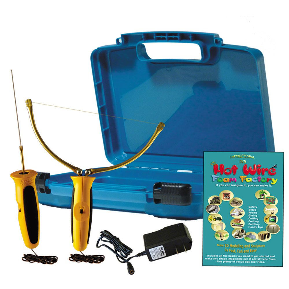 HOT WIRE 2-IN-I KIT POLYSTYRENE CUTTING KIT WITH FREE DVD AND CARRY ...