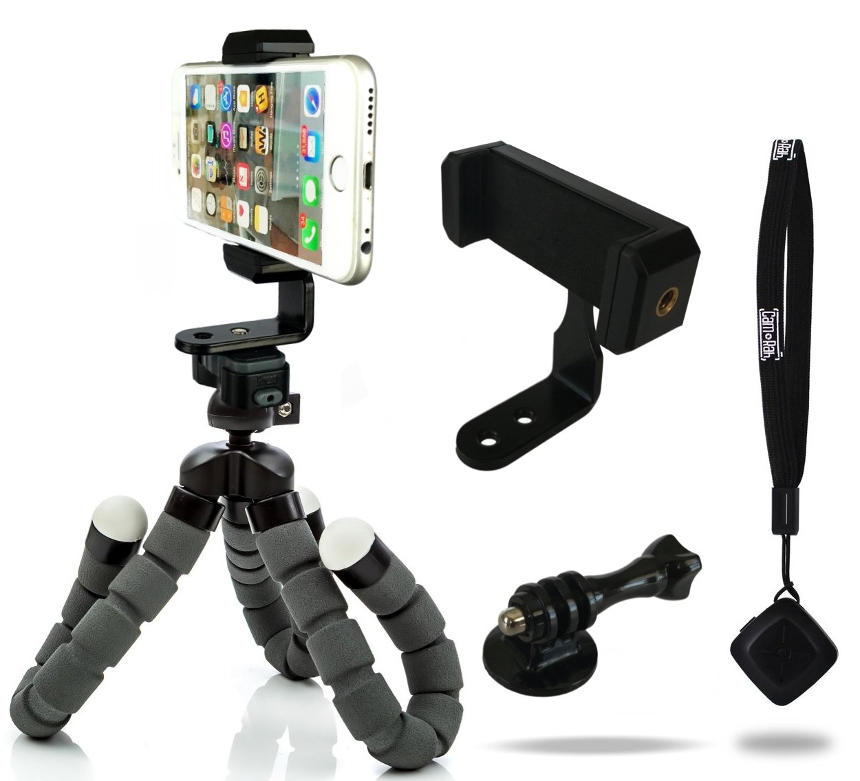 CamRah iPhone Tripod Flexible Pro Series Bluetooth Shutter Remote Portrait Landscape Mount