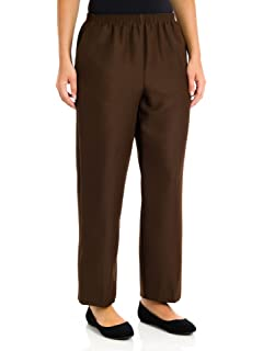 be64f5024eb Alfred Dunner Women s Plus-Size Proportioned Short Solid Pant at ...