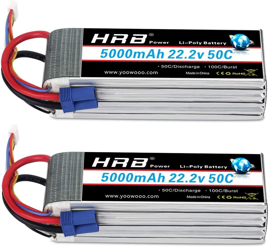 2X Floureon 6S 22.2V 4500mAh 45C Lipo Batterie XT60 plug für RC Truggy RC Drohne