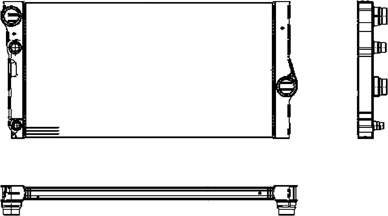 Raffreddamento motore BEHR HELLA SERVICE 8MK 376 755-371 *** PREMIUM LINE *** Radiatore