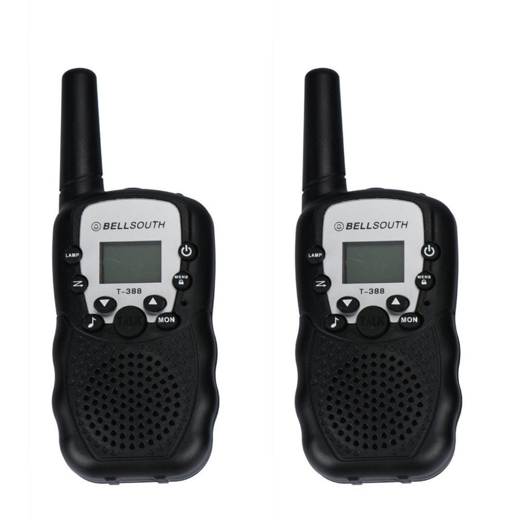 2pcs Black Perman Portable Wireless Walkie-talkie Interphone Set Eight Channel Two-Way Radio Intercom 5KM Travel